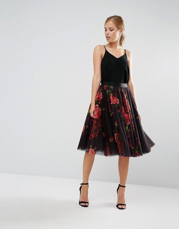 Ted Baker Ondra Juxtapose Rose Print Tutu Midi Skirt ($209) // as seen on Pamela Douglasplayed by Alley Mills on the bold and the beautiful on December 23, 2016.