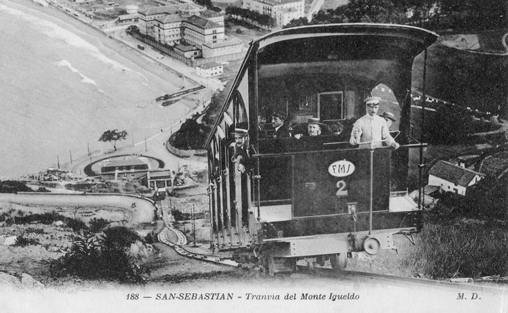 Funicular del monte Igueldo, San Sebastian - Donostia.. 1912.