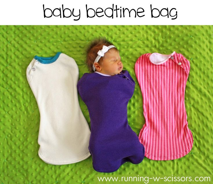 these are so, SO much better than swaddling blankets.  i made mine with a zipper up the front but this would be just as easy.  swaddling is hard!  especially when you are sleep deprived, and cussing at the blanket.