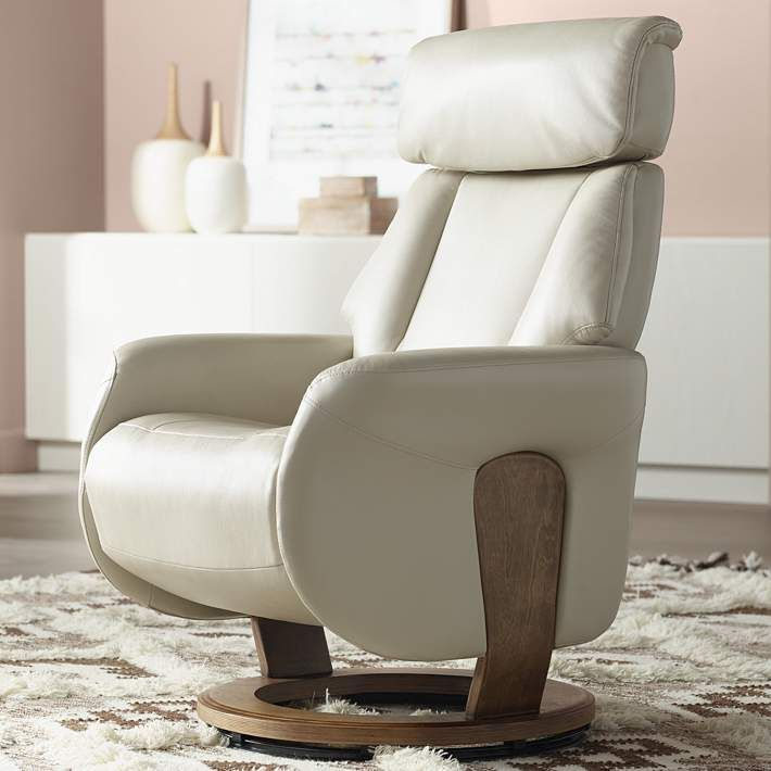 Augusta Taupe Faux Leather 4-Way Recliner Chair - #23T44   Lamps Plus