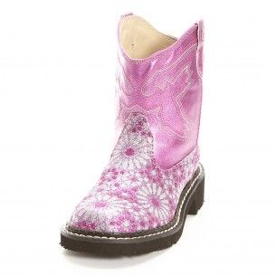 These are too cute! Roper Hot Pink Floral Cowgirl Boots for Kids