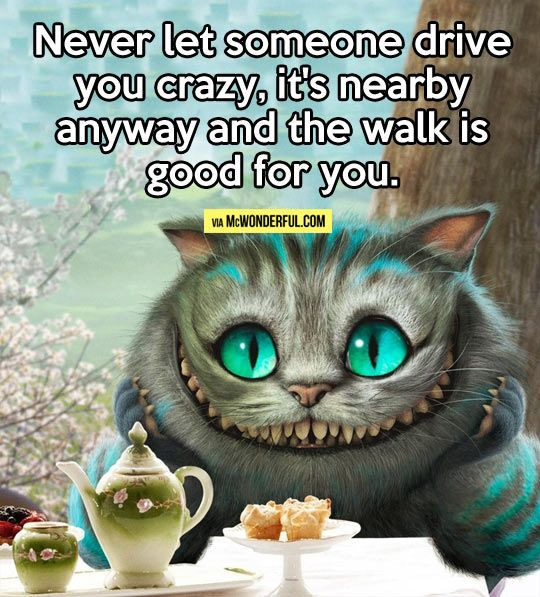 Never let someone drive you crazy…