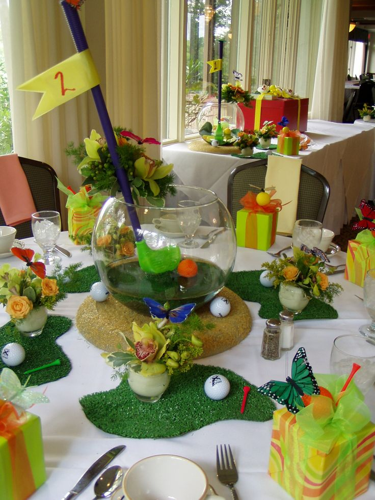 73 best golf party ideas images on pinterest for Golf centerpiece ideas