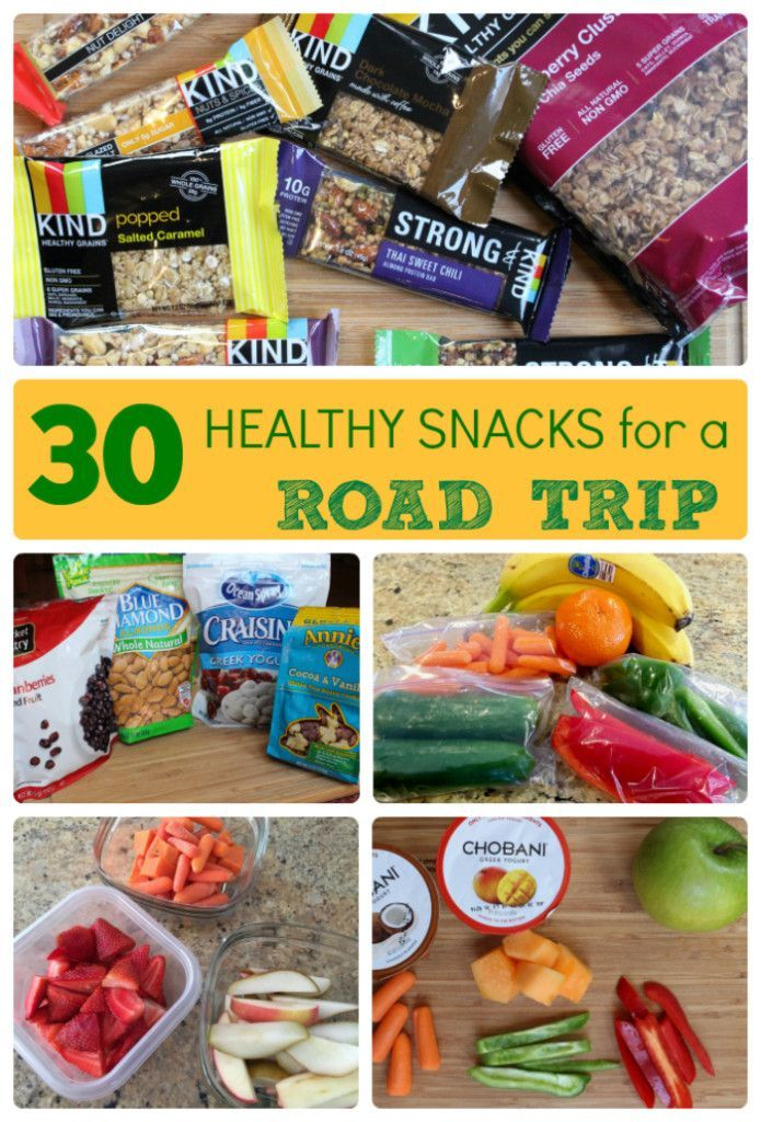From fresh fruit to whole grain cereal, keep your family full and satisfied with a balance of sweet and savory healthy snacks for a road trip. @MomNutrition