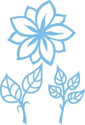 Lr0156 Creatable Bloem en bladeren