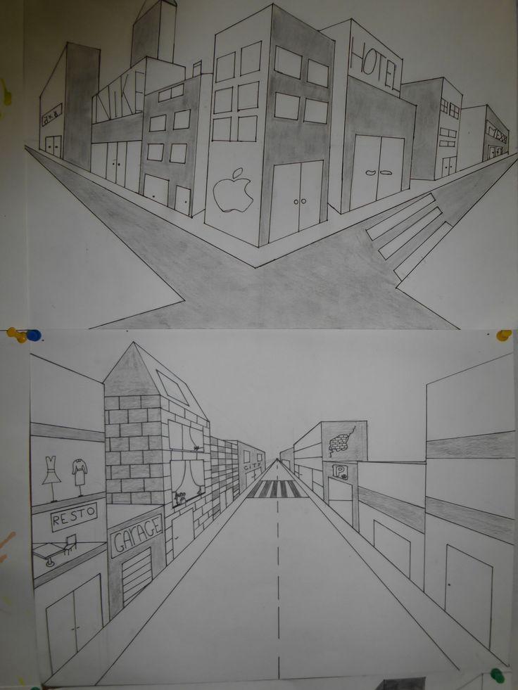 Meer dan 1000 afbeeldingen over Perspective (drawings)   perspectief tekenen op Pinterest