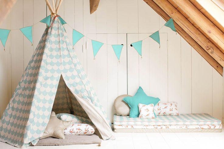 Kinderkamer inspiratie | Tipi & speelmatrasjes voor knusse speelhoek