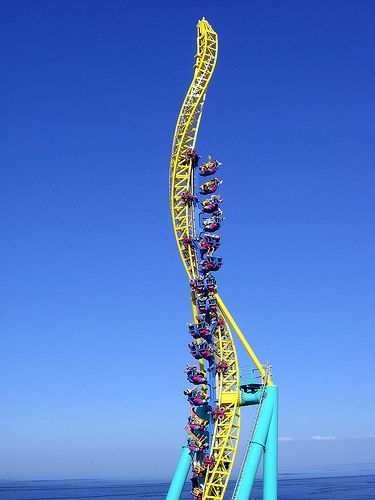 Wicked Twister Roller coaster at Cedar Point, Sandusky, Ohio