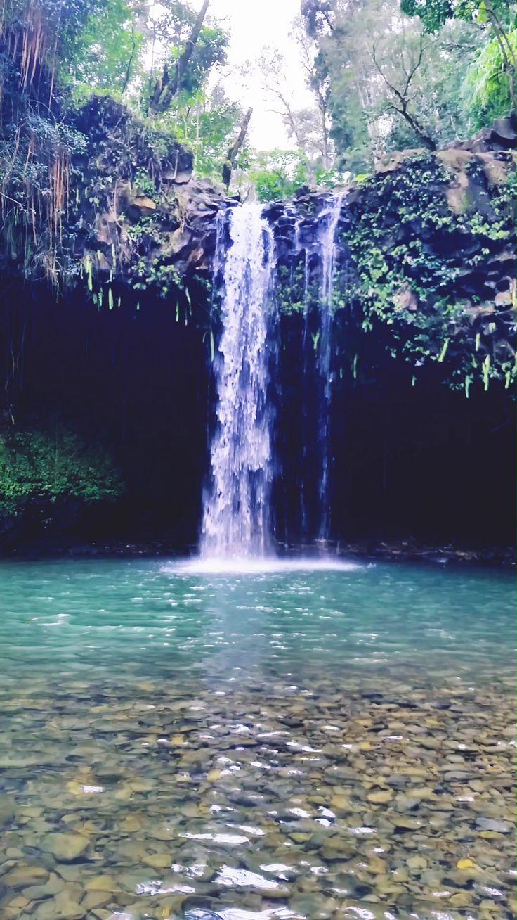 Caveman falls in maui hawaii trail beyond first twin