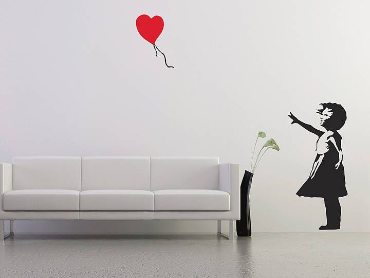 banksy balloon girl wall stickers by the binary box | notonthehighstreet.com