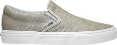 Vans Pebble Snake Classic Slip On - Glacier Gray with FREE Shipping & Returns. The Pebble Snake Classic Slip-on has a low profile, leather upper with