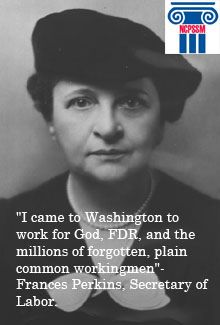 Frances Perkins rocks! http://1.usa.gov/AwUlPM