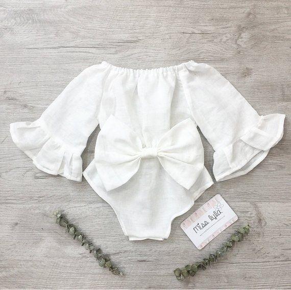 b75569de6914 Baby Girl White Romper