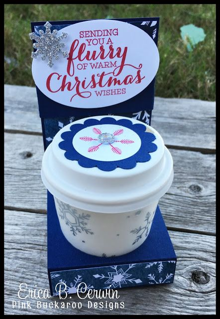 2015  Pink Buckaroo Designs: Mini Coffee Cup and Gift Card Holder Video Tutorial