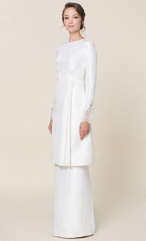 by NURITA HARITH étoile - LILY Kurung in White - NH by Nurita Harith | FashionValet // ♡pinterest :ashshila