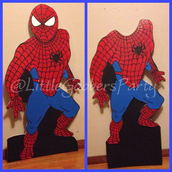 Spiderman birthday party . Hand painted Spiderman by LittleGoobers