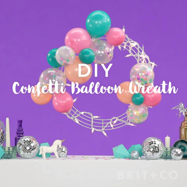 Decorate your home for Christmas with a confetti balloon wreath by following this festive holiday video DIY tutorial.