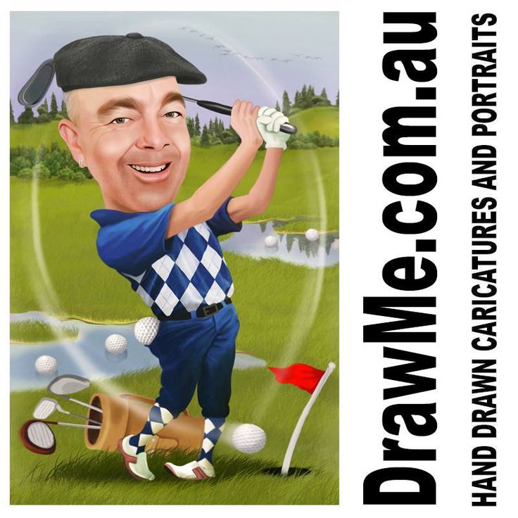 #golf caricatures from www.DrawMe.com.au