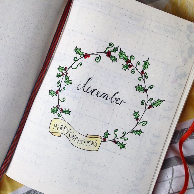 December layout for my Bullet Journal. See this Instagram photo by @hayleyfromhome • 94 likes