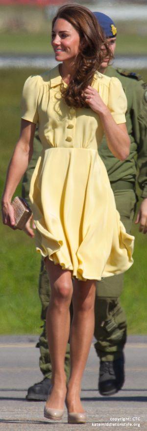 Kate Middleton, classic: Duchess Of Cambridge, The Duchess, Cambridge Katemiddleton, Yellow Dresses, Cute Dresses, Color, Kate Middleton, The Dresses, Jenny Packham