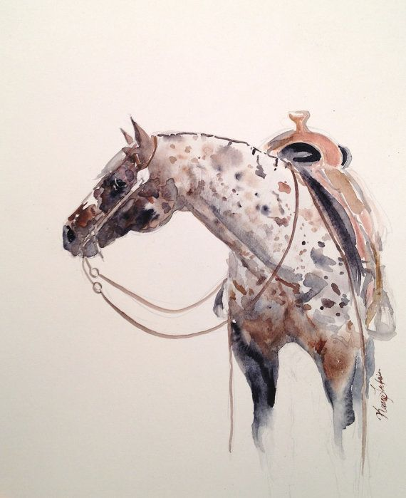 Appaloosa: Equine Art, Custom Watercolor Animal Paintings.