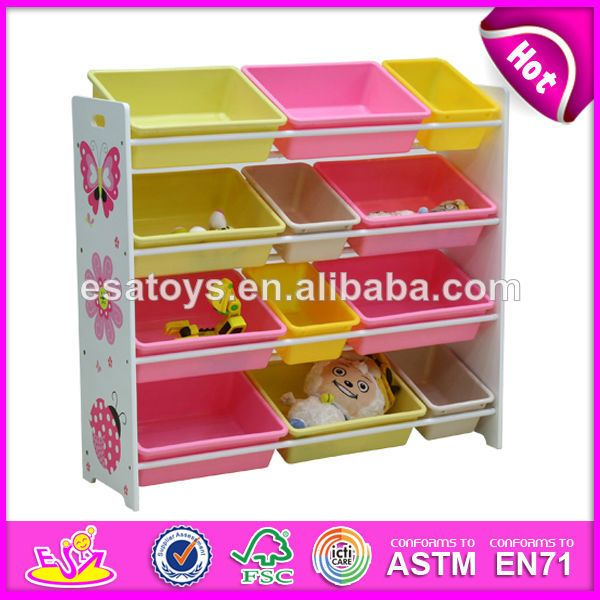 2013 New and Popular design wooden toy organizer for kids with 12 bins $12.8~$31.8