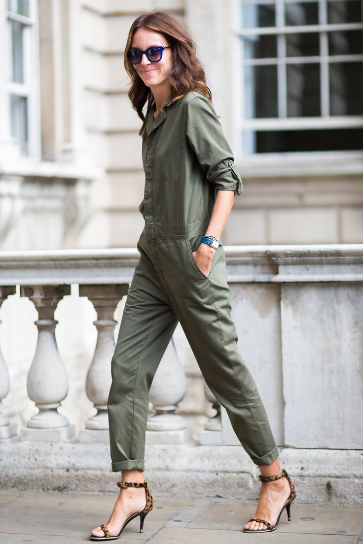 fab boiler suit. #AlisonLoehnis in Paris.