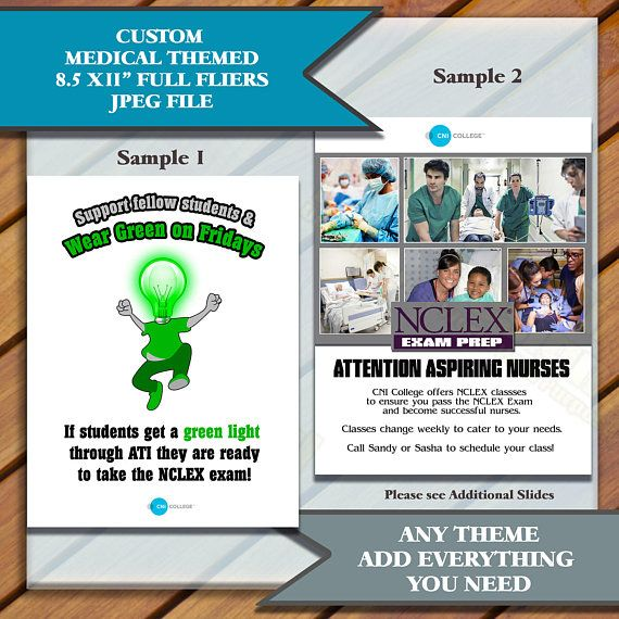Medical Flyers, Medical Student Flyers, Student Services Custom Flyers, Custom Flyers, College flyers, 8.5x11