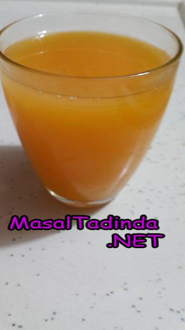 Kayısıdan meyve suyu