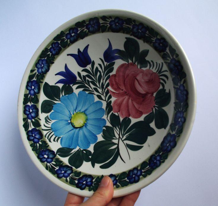 Vintage White Plate Polish Pottery Polish Ceramics
