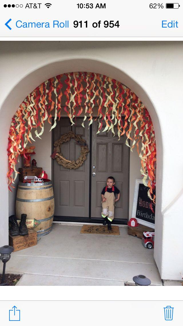 Entry for fireman birthday