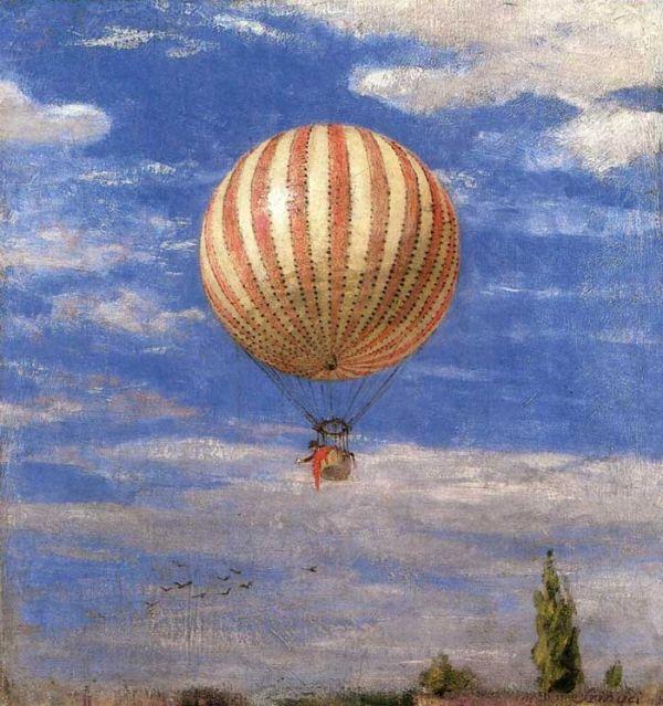 "Pál Szinyei Merse, ""El globo"", Magyar Nemzeti Galéria, Budapest, 1878. Sarah Bernhardt, que estás en los cielos"