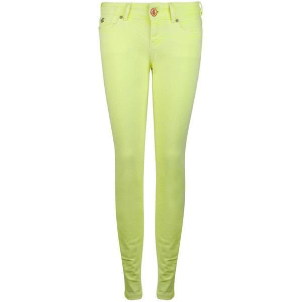 MAISON SCOTCH La Parisienne Neon Jeans ($150) ❤ liked on Polyvore