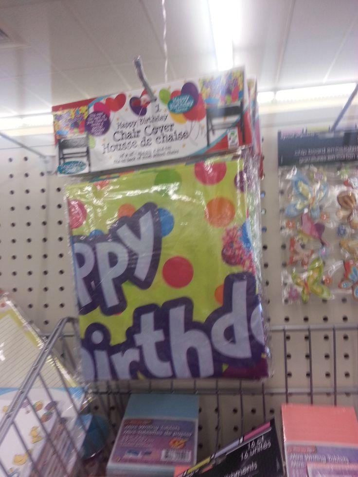 Classroom Birthday Party Treat Ideas ~ Dollar tree happy birthday chair cover favorite