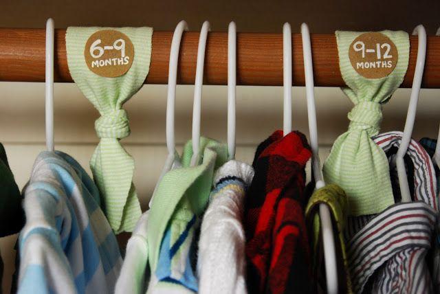 Easy DIY clothing rack dividers. For sorting, separation & organization.