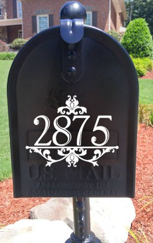 Mailbox Or House Vinyl Number Decal Only Vinyls Home