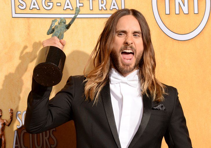 Pin for Later: 23 Reasons Jared Leto Is the Perfect Package He knows how to celebrate big successes.