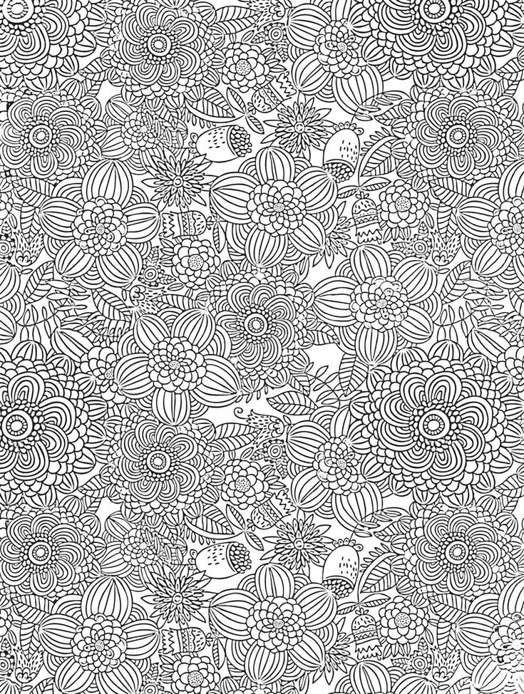 flower abstract doodle zentangle zendoodle paisley coloring pages colouring adult detailed advanced printable kleuren voor volwassenen