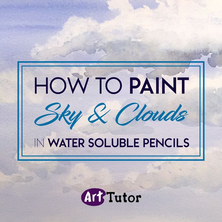 Learn how to paint sky and clouds in water soluble pencils with top artist Carole Massey.
