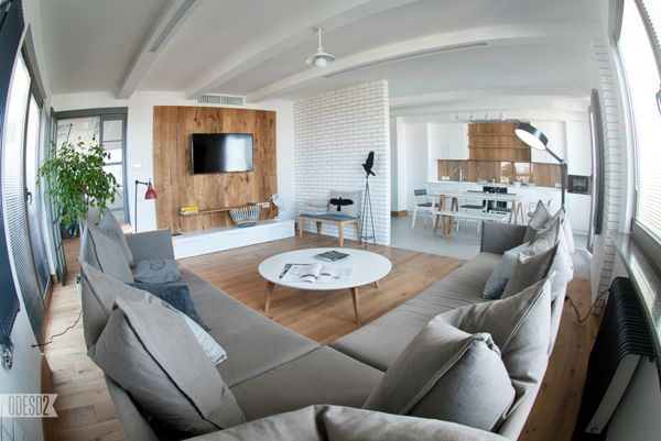 Furniture in interior on Behance