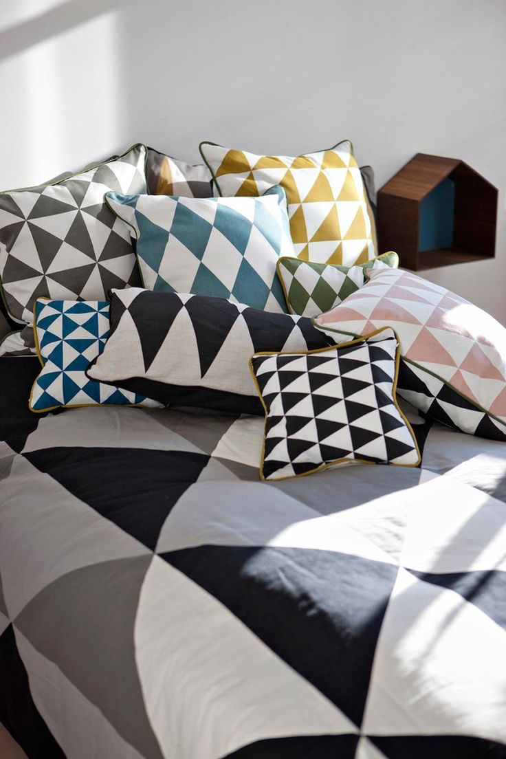 Coussin Large Geometry curry - ferm Living | CAPSULE DECO