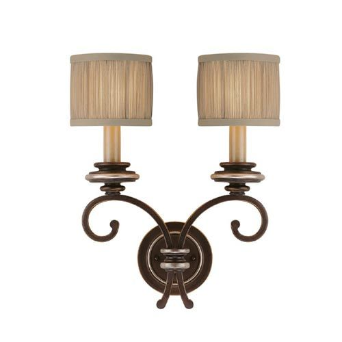 Park place champagne bronze two light sconce capital lighting fixture company 2 light arme 165