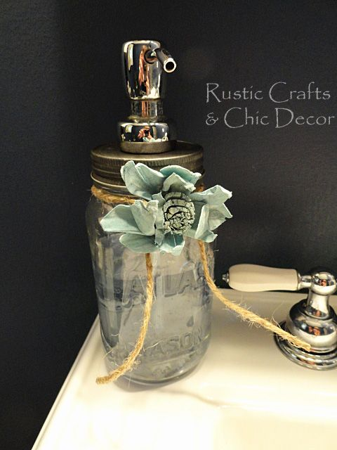 DIY mason jar soap dispenser: Rustic Crafts & Chic Decor