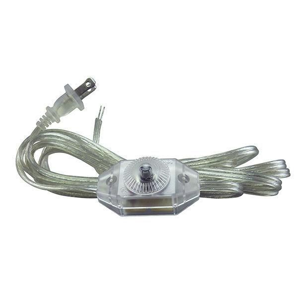 Clear Parallel Cord Set With Full Range Dimmer Switch 11 Ft Dimmer Switch Lamp Dimmer Switch Lamp Cord