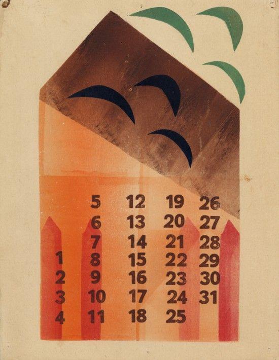 calendar by Hendrik Nicolaas Werkman // present and correct