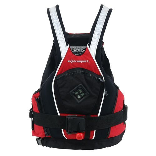 This V type, low profile life jacket comes with a detachable tow/rescue belt with a quick release buckle, for guides and paddlers. Buy online in Australia at Big Water.