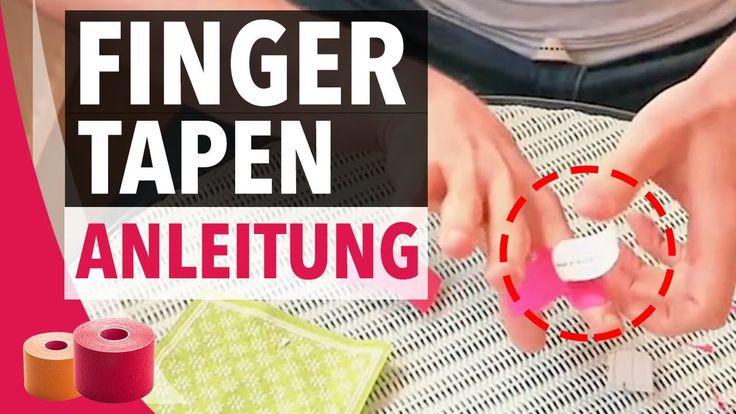 Fingerkapsel richtig Tapen - Finger Tapen Anleitung - Kinesiology Tape Anleitung Finger - BodyTape