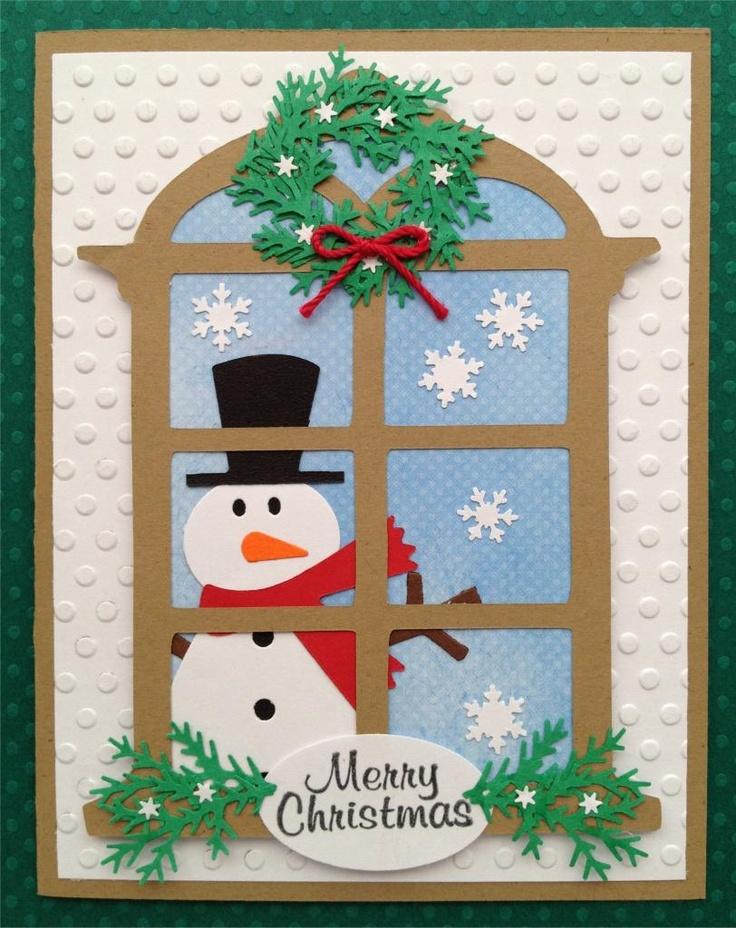 Christmas Window Card  http://www.julieskraftykorner.blogspot.com/