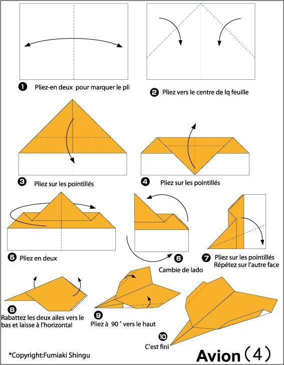 17 meilleures id es propos de avion papier sur pinterest avion en papier - Origami pour les petits ...