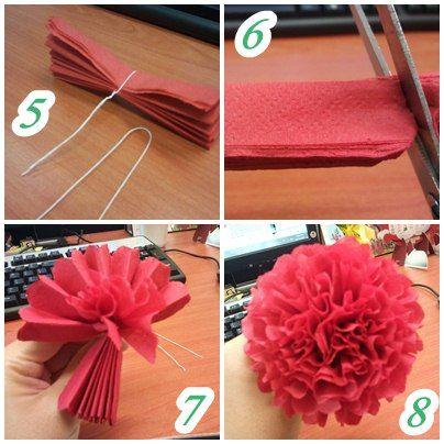 crepe flower tuto